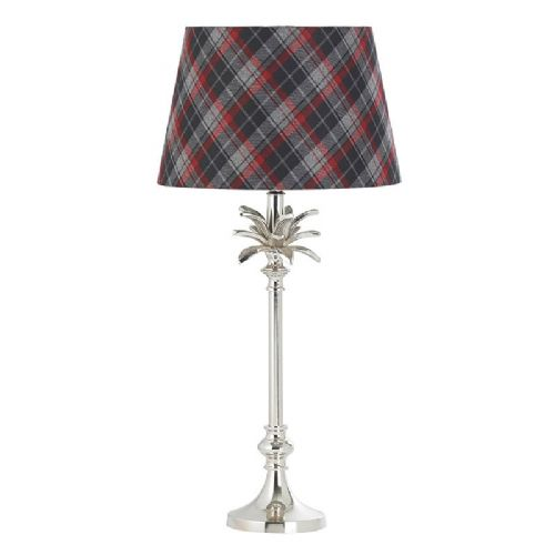 Polished nickel plate Tablelamp BXEH-LEAF-TL-S-17 by Endon (Class 2 Double Insulated)